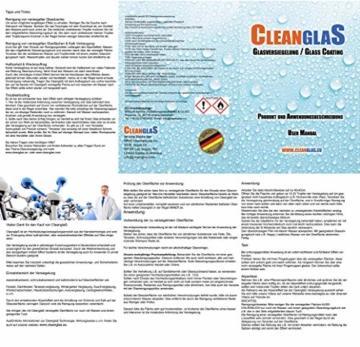 Cleanglas Nanoversiegelung Dusche Bad Fenster Set L Glasversiegelung Inkl. Vorreiniger Dusche Stark Kein Abzieher nötig Nano Glas Versiegelung Fenster Putzen Mit Lotuseffekt (L bis zu 72m2) - 9