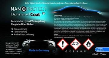 Nanoprotect Diamond Coat   Hochglanz Keramikversiegelung 9H   Lackversiegelung der nächsten Generation   Komplettes Set inkl. Reiniger und Spezialtücher - 2