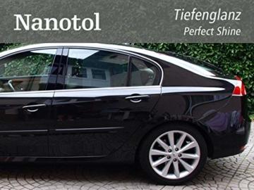 Nanotol Auto, Boot, Freizeit Protector 250 ml (40 m²) - Nanoversiegelung (Step 2) für Lack, Felgen, Autoglas - Glanzversiegelung Lackpflege Lotuseffekt Keramik-Polymer-Hybrid-Beschichtung - 5