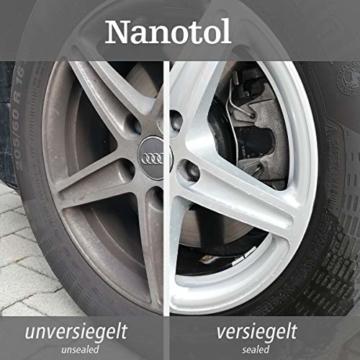 Nanotol Auto, Boot, Freizeit Protector 250 ml (40 m²) - Nanoversiegelung (Step 2) für Lack, Felgen, Autoglas - Glanzversiegelung Lackpflege Lotuseffekt Keramik-Polymer-Hybrid-Beschichtung - 6
