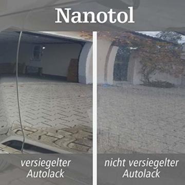 Nanotol Auto, Boot, Freizeit Protector 250 ml (40 m²) - Nanoversiegelung (Step 2) für Lack, Felgen, Autoglas - Glanzversiegelung Lackpflege Lotuseffekt Keramik-Polymer-Hybrid-Beschichtung - 7