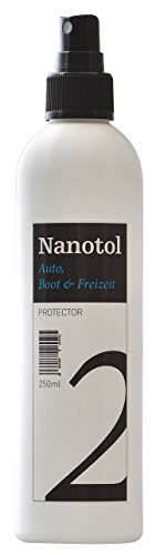 Nanotol Auto, Boot, Freizeit Protector 250 ml (40 m²) - Nanoversiegelung (Step 2) für Lack, Felgen, Autoglas - Glanzversiegelung Lackpflege Lotuseffekt Keramik-Polymer-Hybrid-Beschichtung - 1