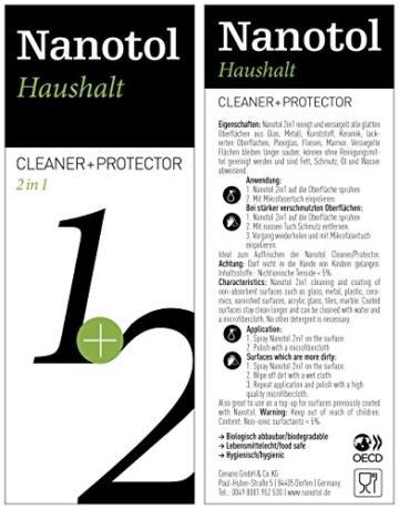 Nanotol Nanoversiegelung-Set für Fenster und Haushalt - spart 50% Reinigungszeit beim Fenster putzen - Haus-Set M (40 m²) + Auffrischer Nanotol Haushalt 2in1 - 4