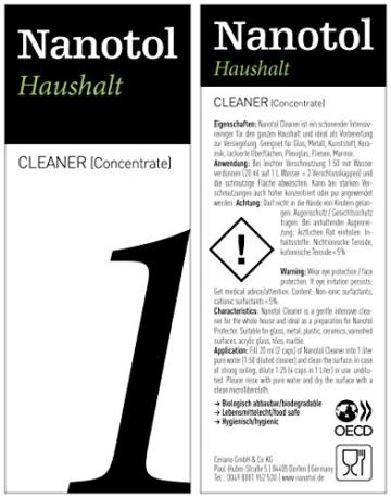 Nanotol Nanoversiegelung-Set für Fenster und Haushalt - spart 50% Reinigungszeit beim Fenster putzen - Haus-Set M (40 m²) + Auffrischer Nanotol Haushalt 2in1 - 6